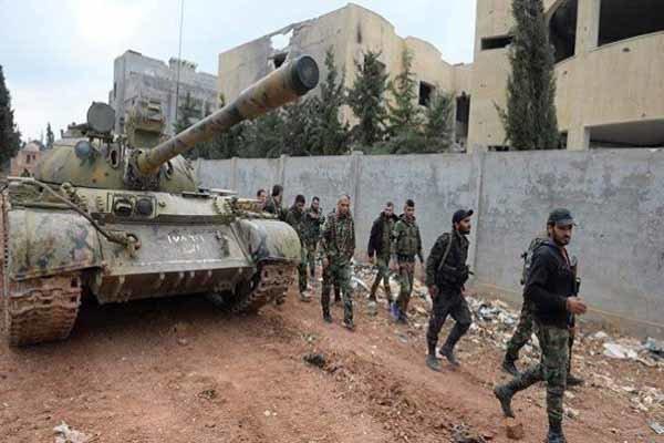 کشف و ضبط تسلیحات تکفیری ها در حومه شمالی حماه سوریه