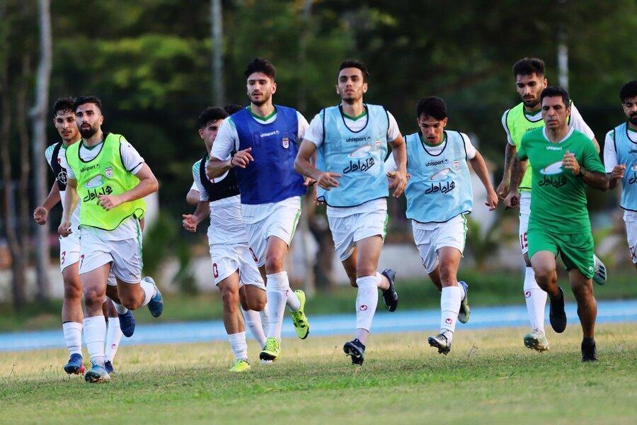 عکس ، تمرین تیم امید در سونگالا ، شماره پیراهن بازیکنان امید ایران در انتخابی المپیک