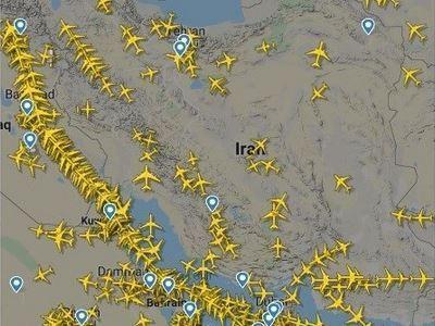 رشد پرواز های عبوری از آسمان ایران