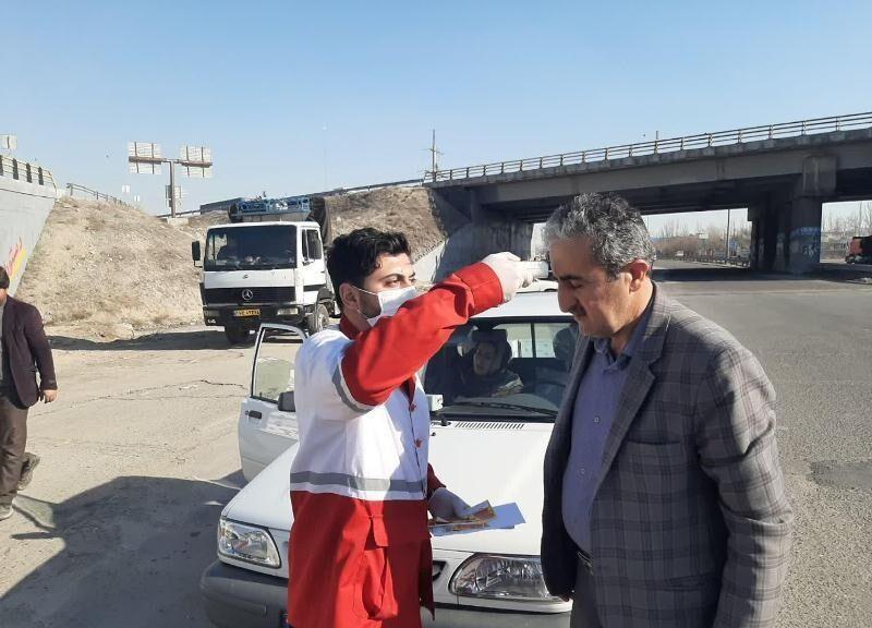 خبرنگاران هزارو 989 نفر از سوی هلال احمر زنجان تب سنجی و غربالگری شدند