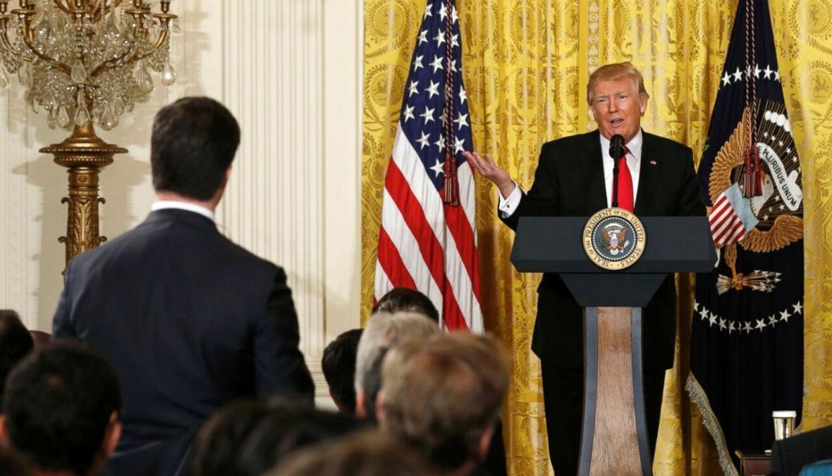 خبرنگاران نزاع بی انتها ترامپ با رسانه