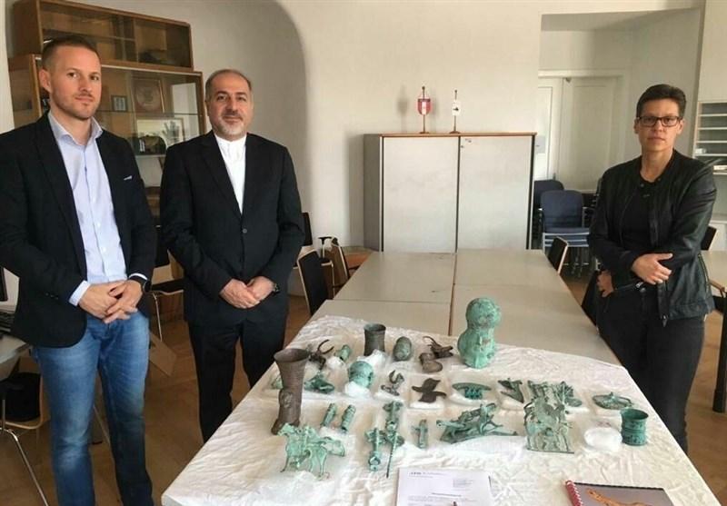 اشیاء باستانی متعلق به ایران از اتریش بازگردانده می شوند