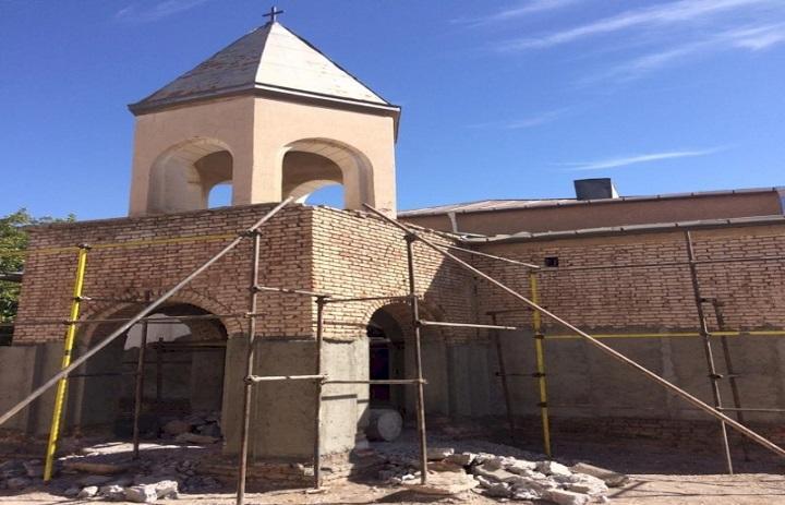 اتمام فاز دوم عملیات حفاظت و بازسازی کلیسای تاریخی هوانس مراغه