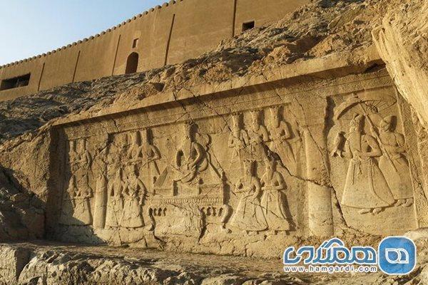 انجام بازسازی تپه تاریخی و نقش برجسته قاجاری چشمه علی